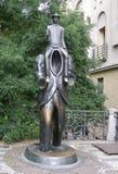 Franz Kafka雕象在布拉格 免版税图库摄影