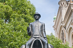 Franz Kafka雕象 免版税图库摄影