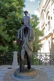 Franz Kafka雕象 库存图片