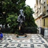 Franz Kafka雕象 库存照片