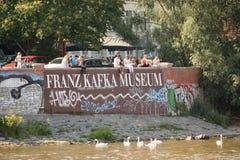 Franz Kafka-Museumsaußendetail in Prag Stockbild