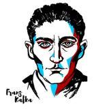 Franz Kafka portret royalty ilustracja