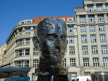Franz Kafka`s gigantic mechanical head Royalty Free Stock Photo