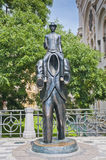 Franz Kafka statue. Located near the Spanish Synagogue royalty free stock image