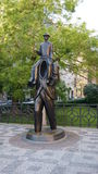 Franz Kafka staty Arkivbilder