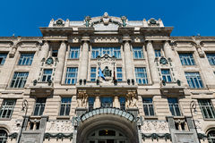 Franz Liszt Academy of Music in Budapest. Main facade of the New Franz Liszt Academy of Music in Budapest, a concert hall and music conservatory in the city stock photography