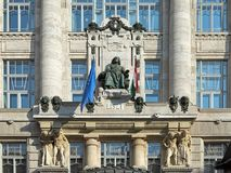 Franz Liszt statue on the facade of the Franz Liszt Academy of Music in Budapest, Hungary Stock Photo