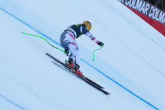 FRANZ Max (AUT). VAL GARDENA, ITALY - DECEMBER 21: FRANZ Max (AUT)races down the Saslong competing in the Audi FIS Alpine Skiing World Cup MEN'S DOWNHILL on the Stock Photos
