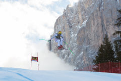 FRANZ Max (AUT). VAL GARDENA, ITALY - DECEMBER 21: FRANZ Max (AUT)races down the Saslong competing in the Audi FIS Alpine Skiing World Cup MEN'S DOWNHILL on the Royalty Free Stock Images