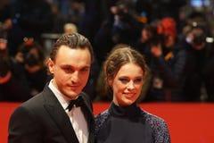 Franz Rogowski e Paula Beer a Berlinale 2018 immagine stock