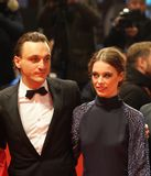 Franz Rogowski e Paula Beer a Berlinale 2018 immagine stock libera da diritti