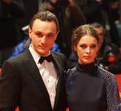 Franz Rogowski e Paula Beer a Berlinale 2018 immagini stock libere da diritti