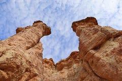 Franz?sische geologische Bildung aufgestellt in Auvergne, Frankreich stockfotografie