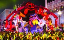Franz?sischer Karneval von Nizza stockfotos