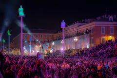 Franz?sischer Karneval von Nizza stockbilder