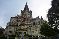 Franz von Assisi Kirche; Kaiser Franz Joseph Jubilaums Kirche i Wien Royaltyfria Bilder