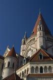 Franz von Assisi Kirche in Vienna. Tower of Franz-von-Assisi-Kirche on the Mexican Square in Vienna Stock Photography