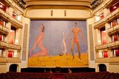 Franz West Safety Curtain, de Operahuis van Wenen, Oostenrijk Royalty-vrije Stock Afbeeldingen