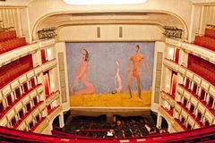 Franz West Safety Curtain, teatro da ópera de Viena, Áustria Imagem de Stock