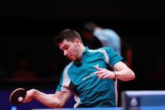 FRANZISKA Patrick from Germany top spin. Bremen, Germany, 24 March 2018. Men`s Singles Semi-final. Xu Xin CHN beat Franziska Patrick GER 4/2, German Open Stock Images