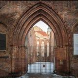 Franziskaner Klosterkirche大教堂,柏林的废墟 免版税库存图片