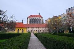 Franziskanergarten von Prag Stockfotos