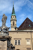 Franziskanerkirche. Franciscan Church (Franziskanerkirche) in Salzburg, Austria Stock Photos