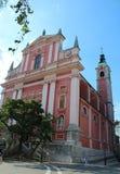 Franziskanerkirche der Anzeige stockfoto