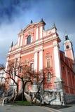 Franziskanerkirche der Anzeige Lizenzfreies Stockfoto