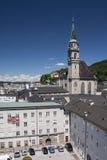 Franziskanerkirche in Salzburg, Österreich Stockfotos
