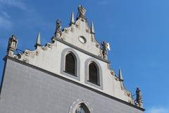 Franziskanerkirche - Vienna - Austria. The facade of the Franziskanerkirche built in Vienna (Austria). La façade de la Franziskanerkirche construite à royalty free stock photos