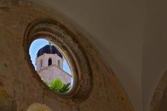 Franziskanerkloster in der alten Stadt Dubrovnik, Kroatien Stockfotos