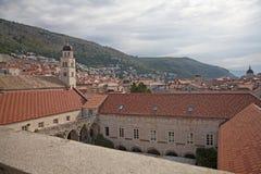 Franziskanerkloster in Dubrovnik stockfotos