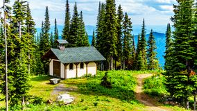 Franziskus Chapel in Sun Peaks, British Columbia, Canada Stock Photos