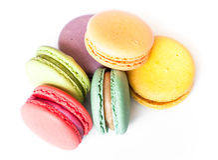 Franzosen Macaron-Plätzchen Stockfotos