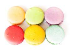 Franzosen Macaron-Plätzchen Lizenzfreies Stockfoto