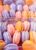 Franzosen Macarons-Abschluss herauf Ansicht II Lizenzfreie Stockfotos