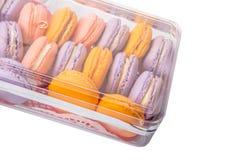 Franzosen Macarons-Abschluss herauf Ansicht VII Lizenzfreies Stockfoto
