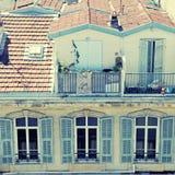Französische Dachspitzen, Nizza, Frankreich Lizenzfreies Stockfoto