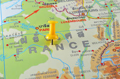 Französische Karte Lizenzfreie Stockfotografie