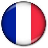 Französische Markierungsfahnen-Taste Lizenzfreies Stockfoto