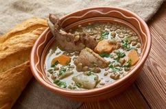 Französische Suppe mit Linsen und Dijon-Senf Lizenzfreies Stockbild
