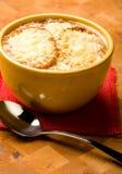 Französische Zwiebelen-Suppe Stockfoto