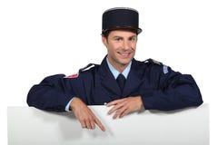 Französischer Polizist Stockbild