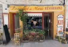Französisches Bistrorestaurant in Paris Frankreich Stockbilder