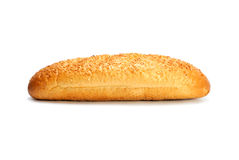 Französisches Brot getrennt auf Weiß Stockfoto