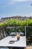 Frape in Acropolis. Royalty Free Stock Photo