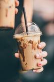Frappe в пластичной чашке Стоковые Изображения