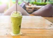 Frappe зеленого чая и смешанный Стоковые Фотографии RF