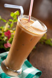 Frappe coffee. Refreshing cold frappe coffee cocktail Royalty Free Stock Photo